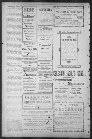 Primary view of object titled 'Brownsville Daily Herald (Brownsville, Tex.), Vol. ELEVEN, No. 149, Ed. 1, Tuesday, August 19, 1902'.