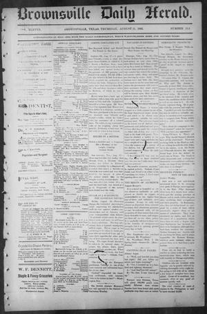 Primary view of object titled 'Brownsville Daily Herald (Brownsville, Tex.), Vol. ELEVEN, No. 151, Ed. 1, Thursday, August 21, 1902'.