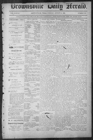 Primary view of object titled 'Brownsville Daily Herald (Brownsville, Tex.), Vol. ELEVEN, No. 155, Ed. 1, Tuesday, August 26, 1902'.