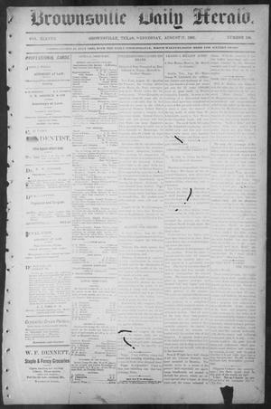 Primary view of object titled 'Brownsville Daily Herald (Brownsville, Tex.), Vol. ELEVEN, No. 156, Ed. 1, Wednesday, August 27, 1902'.