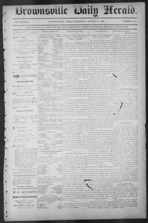 Primary view of object titled 'Brownsville Daily Herald (Brownsville, Tex.), Vol. ELEVEN, No. 157, Ed. 1, Thursday, August 28, 1902'.