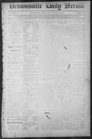 Primary view of object titled 'Brownsville Daily Herald (Brownsville, Tex.), Vol. ELEVEN, No. 158, Ed. 1, Friday, August 29, 1902'.