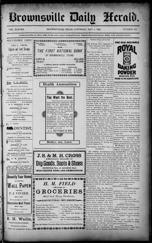 Primary view of object titled 'Brownsville Daily Herald (Brownsville, Tex.), Vol. 11, No. 362, Ed. 1, Saturday, May 2, 1903'.