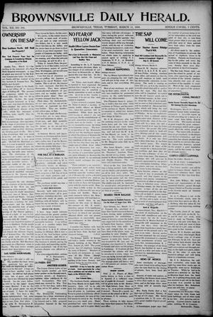 Primary view of object titled 'Brownsville Daily Herald (Brownsville, Tex.), Vol. 12, No. 306, Ed. 1, Tuesday, March 15, 1904'.