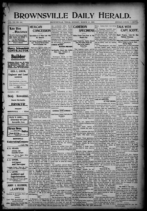 Primary view of object titled 'Brownsville Daily Herald (Brownsville, Tex.), Vol. 12, No. 401, Ed. 1, Monday, March 21, 1904'.