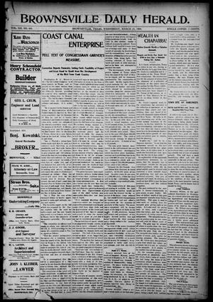 Primary view of object titled 'Brownsville Daily Herald (Brownsville, Tex.), Vol. 12, No. 403, Ed. 1, Wednesday, March 23, 1904'.