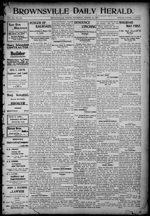 Primary view of object titled 'Brownsville Daily Herald (Brownsville, Tex.), Vol. 12, No. 404, Ed. 1, Thursday, March 24, 1904'.