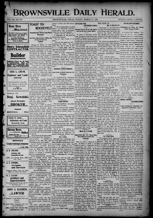 Primary view of object titled 'Brownsville Daily Herald (Brownsville, Tex.), Vol. 12, No. 405, Ed. 1, Friday, March 25, 1904'.