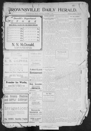 Primary view of object titled 'Brownsville Daily Herald (Brownsville, Tex.), Vol. 13, No. 90, Ed. 1, Tuesday, October 4, 1904'.