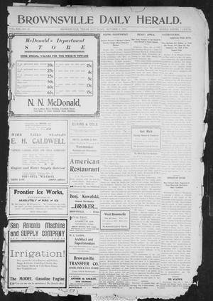 Primary view of object titled 'Brownsville Daily Herald (Brownsville, Tex.), Vol. 13, No. 94, Ed. 1, Saturday, October 8, 1904'.