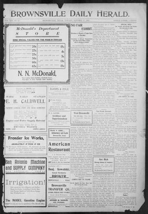 Primary view of object titled 'Brownsville Daily Herald (Brownsville, Tex.), Vol. 13, No. 95, Ed. 1, Monday, October 10, 1904'.