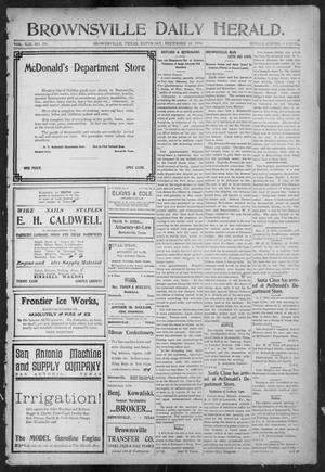 Primary view of object titled 'Brownsville Daily Herald (Brownsville, Tex.), Vol. 13, No. 224, Ed. 1, Saturday, December 10, 1904'.