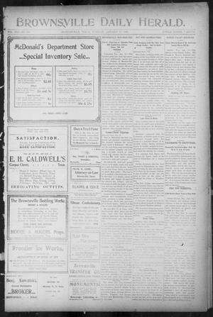 Primary view of object titled 'Brownsville Daily Herald (Brownsville, Tex.), Vol. 13, No. 253, Ed. 1, Tuesday, January 17, 1905'.