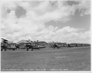 Primary view of object titled 'Airplanes in Rows (Randolph Field)'.