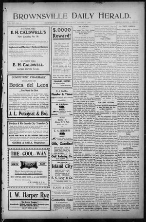 Primary view of object titled 'Brownsville Daily Herald (Brownsville, Tex.), Vol. 14, No. 29, Ed. 1, Saturday, August 5, 1905'.