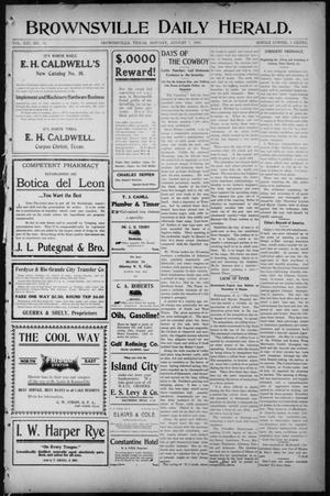 Primary view of object titled 'Brownsville Daily Herald (Brownsville, Tex.), Vol. 14, No. 30, Ed. 1, Monday, August 7, 1905'.