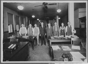 Primary view of object titled 'Group Picture of Employees in a Office Building'.