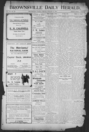 Primary view of object titled 'Brownsville Daily Herald (Brownsville, Tex.), Vol. 14, No. 180, Ed. 1, Tuesday, January 30, 1906'.