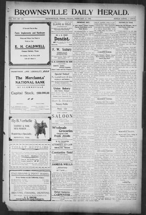 Primary view of object titled 'Brownsville Daily Herald (Brownsville, Tex.), Vol. 14, No. 201, Ed. 1, Friday, February 23, 1906'.