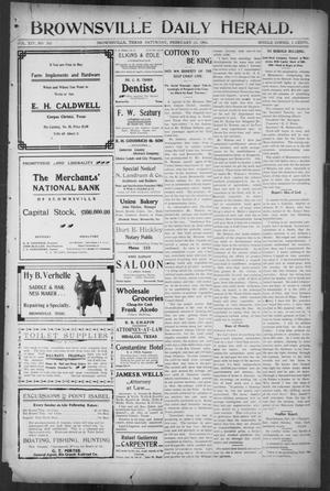 Primary view of object titled 'Brownsville Daily Herald (Brownsville, Tex.), Vol. 14, No. 202, Ed. 1, Saturday, February 24, 1906'.