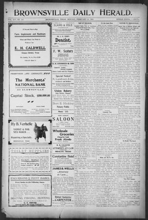 Primary view of object titled 'Brownsville Daily Herald (Brownsville, Tex.), Vol. 14, No. 203, Ed. 1, Monday, February 26, 1906'.