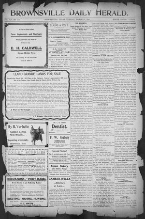 Primary view of object titled 'Brownsville Daily Herald (Brownsville, Tex.), Vol. 14, No. 222, Ed. 1, Tuesday, March 20, 1906'.