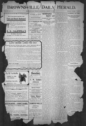 Primary view of object titled 'Brownsville Daily Herald (Brownsville, Tex.), Vol. 14, No. 226, Ed. 1, Wednesday, March 28, 1906'.