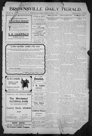 Primary view of object titled 'Brownsville Daily Herald (Brownsville, Tex.), Vol. 14, No. 236, Ed. 1, Thursday, April 5, 1906'.