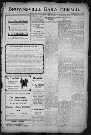 Primary view of object titled 'Brownsville Daily Herald (Brownsville, Tex.), Vol. 14, No. 239, Ed. 1, Monday, April 9, 1906'.