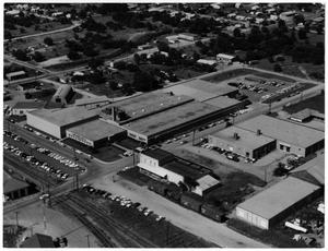 Primary view of object titled 'Aerial View of the Moore Business Forms Factory'.