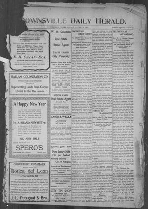 Primary view of object titled 'Brownsville Daily Herald (Brownsville, Tex.), Vol. 15, No. 157, Ed. 1, Friday, January 4, 1907'.