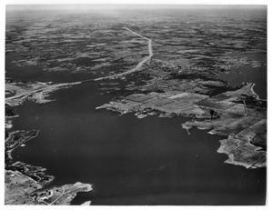 Primary view of object titled 'Aerial View of Lewisville Lake'.