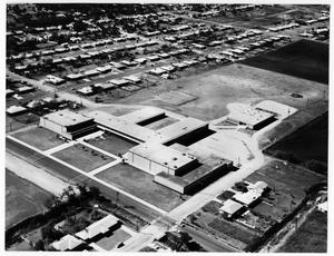 Primary view of object titled 'Aerial View of Denton High School'.