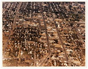 Primary view of object titled 'Aerial View of Denton, Texas'.