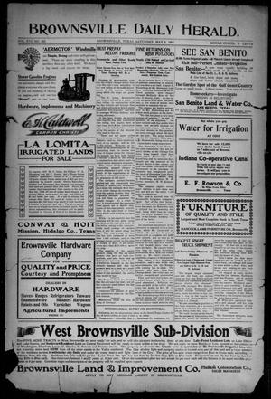 Primary view of object titled 'Brownsville Daily Herald (Brownsville, Tex.), Vol. 16, No. 265, Ed. 1, Saturday, May 9, 1908'.