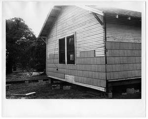 Primary view of object titled 'Exterior of a House on Concrete Blocks'.