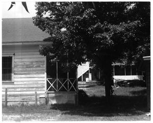 Primary view of object titled 'Exterior Two Homes and a Tree'.