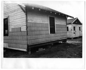 Primary view of object titled 'Exterior of Home on Concrete Blocks'.