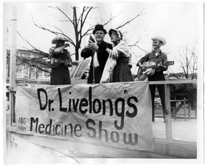 Primary view of object titled '[Dr. Livelong's Medicine Show]'.