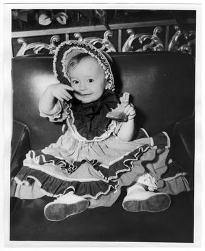 Primary view of object titled '[Ann Russell, Costumed Young Girl]'.