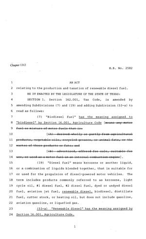 81st Texas Legislature, Regular Session, House Bill 2582, Chapter 1312