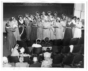 Primary view of object titled '[ABC Belles singing]'.