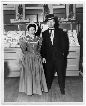 Primary view of object titled 'Unidentified Man and Woman in Costume'.