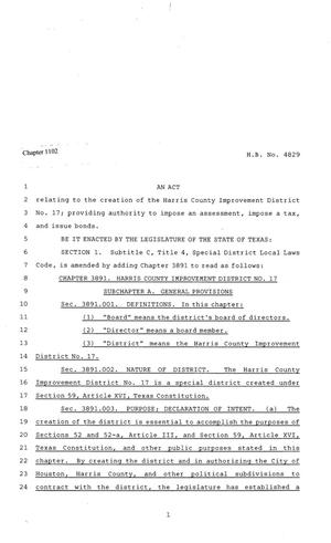 81st Texas Legislature, Regular Session, House Bill 4829, Chapter 1102