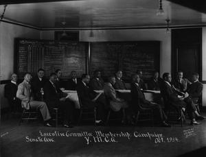 Primary view of object titled '[Executive Committee Membership Campaign for the Y. M. C. A]'.