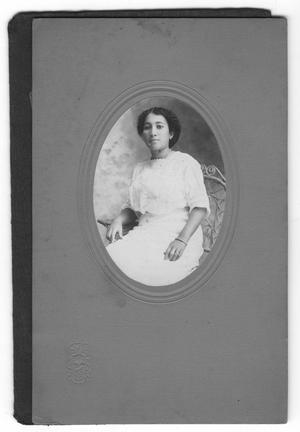 Primary view of object titled '[Photograph of Susie Whitlock Moten]'.