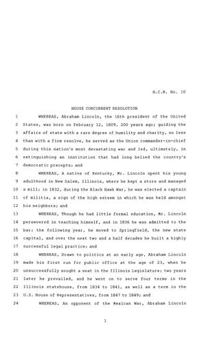 Primary view of object titled '81st Texas Legislature, House Concurrent Resolution , Chapter 1104'.