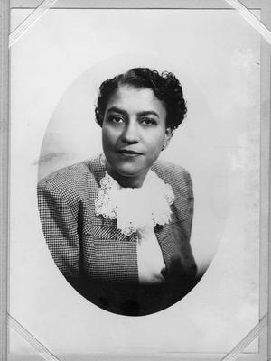 Primary view of object titled '[Photograph of Myrtle Bell Moten]'.