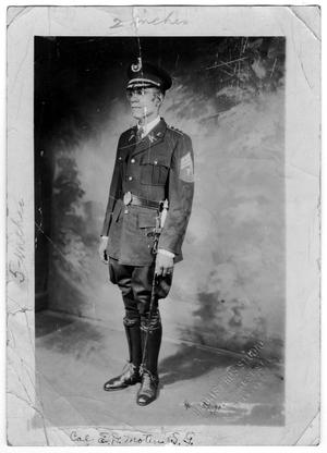 Primary view of object titled '[Military Portrait of Dr. E. D. Moten]'.