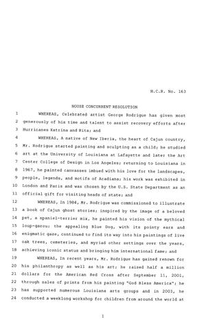 Primary view of object titled '81st Texas Legislature, House Concurrent Resolution, House Bill 163'.